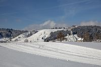 cross-country ski run with jump hill from Einsiedeln, Swiss