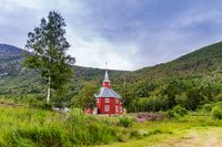 Lonset church in Oppdal, Norway