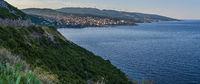 Summer morning Adriatic coastline, Bar, Montenegro
