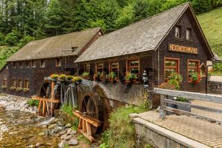 Hexenlochmühle, Wassermühle bei Furtwangen im Schwarzwald, Baden-Württemberg, Deutschland
