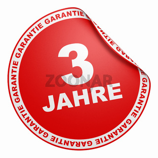 3D Aufkleber - 3 Jahre Garantie Rot