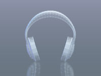 3D polygonal headphones with reflection