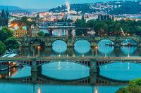 Bridges over the River Vltava in Prague
