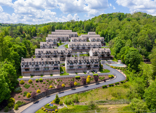 Townhouse development by Cheat Lake in Morgantown West Virginia