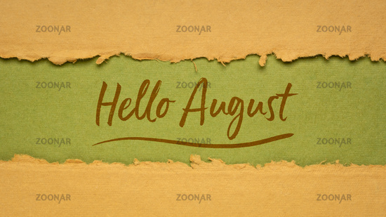 Hello August welcome note
