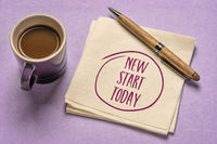 new start today motivational note