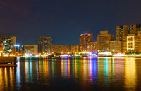 Deira and Dubai Creek at night