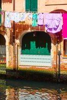 Drying linen outdoor in Venice
