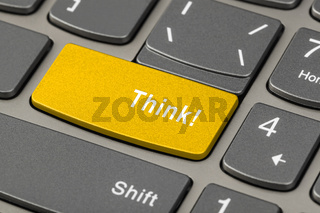 Computer notebook keyboard with Think key