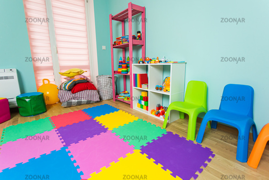 The new children's room before the start of kindergarten