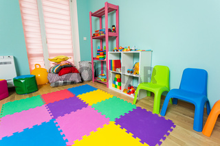 The new children's room before the start of kindergarten