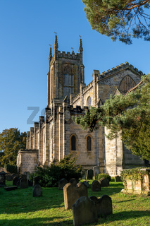EAST GRINSTEAD, WEST SUSSEX/UK - NOVEMBER 29 : Exterior view of St Swithun's Church in East Grinstead West Sussex on November 29, 2019