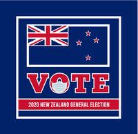 2020 New Zealand general election. Vector illustration