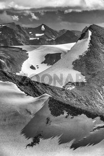 Blick zum Gavabakte, Sarek Nationalapark, Welterbe Laponia, Lappland