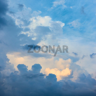 Heavens - Evening sky with cloud