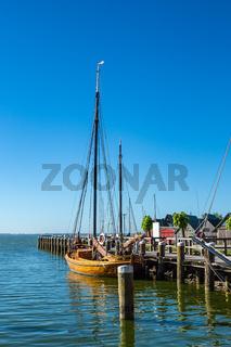 Der Hafen von Althagen am Bodden