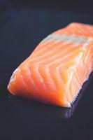 Salmon steak closeup view