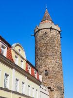 Altstadt von Bautzen, Sachsen, Deutschland, mit Wendischer Turm