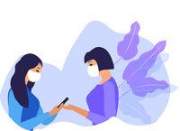 Women in protective masks. Respiratory mask. Coronavirus protection. Vector illustration