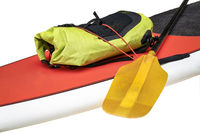 Deck of expedition stand up paddleboard