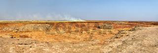 abstract landscape in Dallol, Danakil depression, Ethiopia