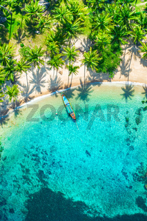 Aerial view tropical beach Sai Nuan