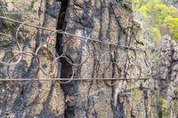Sicherung von Felsen gegen Absturz