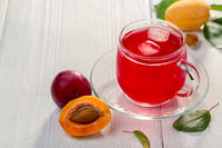 Traditional sweet drink made from plums and apricots.