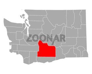 Karte von Yakima in Washington - Map of Yakima in Washington