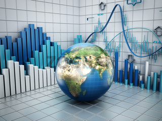 Global finance concept. Elements of this image furnished by NASA.