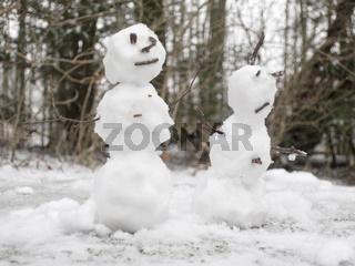 snowman (or woman) couple