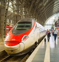 Modern fast train  Frankfurt Passenger