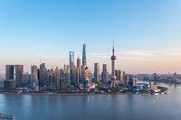 dusk scene in shanghai