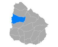 Karte von Paysandu in Uruguay - Map of Paysandu in Uruguay