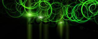 Futuristic eco circle panorama background design with lights