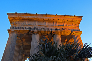 Denkmal in Lower Barrakka Gardens,Valletta,Ma