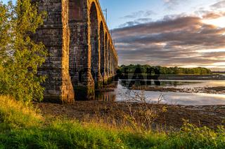 Railway bridge in Berwick-upon-Tweed, England