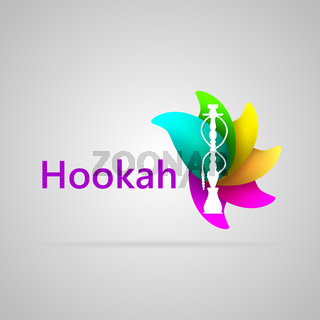 Colorful illustration for hookah