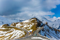 Alpine panoramic mountain road