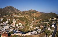 Aerial view of resort village Bali. Crete, Greece