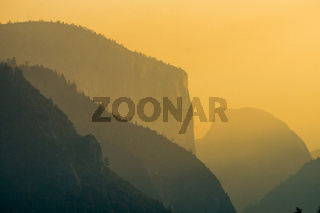 Yosemite valley national park in california early morning