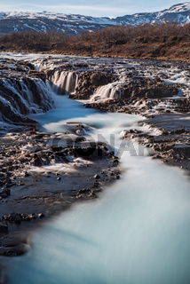 Bruarfoss waterfall in Iceland