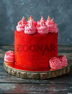 Homemade sponge cake Red velvet.