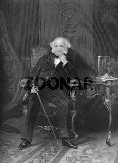 Martin Van Buren, 1782 - 1862, the eighth President of the United States