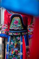 Colorful details of ethnic minorities costume