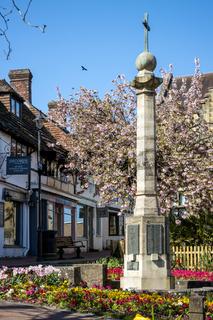 EAST GRINSTEAD, WEST SUSSEX/UK - APRIL 20 : View of the War Memorial in East Grinstead on April 20, 2020