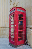 Telephone booth in the capital