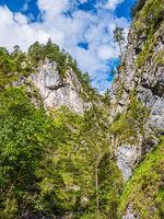 Die Almbachklamm im Berchtesgadener Land