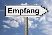 Wegweiser Empfang | signpost Empfang (Reception)