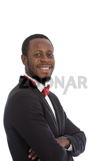 Handsome African man with a beaming smile